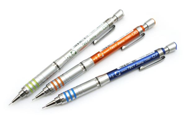 Zebra Tect 2way 1000 Drafting Pencil - 0.3 mm - Silver Body - ZEBRA MAS41-S