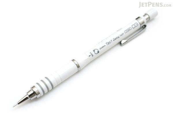 Zebra Tect 2way Drafting Pencil - 0.3 mm - White Body - ZEBRA MAS42-W