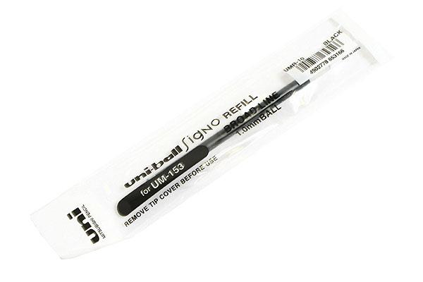Uni-ball Signo UMR-10 Gel Pen Refill - 1.0 mm - Black Ink - UNI UMR10.24