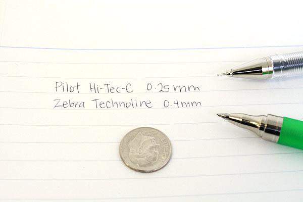 Zebra Techno Line Ballpoint Pen - 0.4 mm - Pink Body - ZEBRA BAS2-P