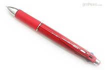Zebra Clip-On 1000S 4 Color 0.7 mm Ballpoint Multi Pen + 0.5 mm Pencil - Red Body - ZEBRA B4SA3-R