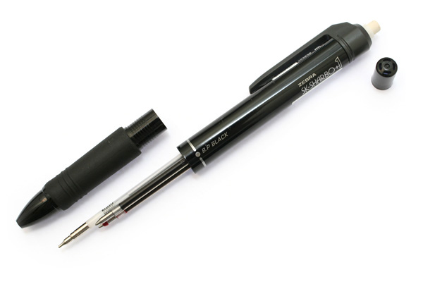 Zebra SK-Sharbo+1 2 Color 0.7 mm Ballpoint Multi Pen + 0.5 mm Pencil - Black - ZEBRA SB5-BK
