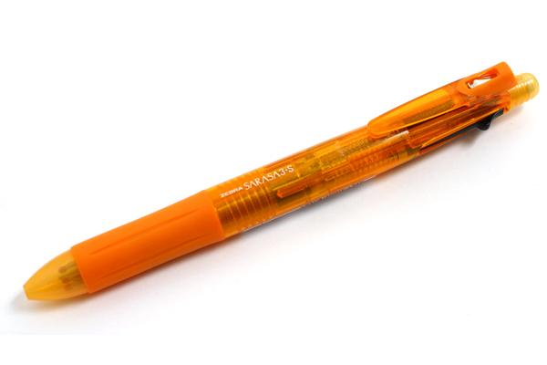 Zebra Sarasa 3+S 3 Color 0.5 mm Gel Ink Multi Pen + 0.5 mm Pencil - Orange Body - ZEBRA SJ3-OR