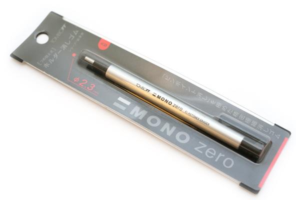Tombow Mono Zero Eraser - 2.3 mm - Circle - Silver Body - TOMBOW EH-KUR04
