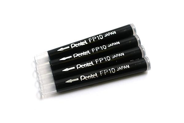 Pentel Pocket Brush Pen for Calligraphy Refill Cartridge - Pack of 4 - PENTEL FP10-A