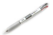 Pentel Rolly C4 4 Color Ballpoint Multi Pen - 0.7 mm - Clear Clip - PENTEL BPC47T