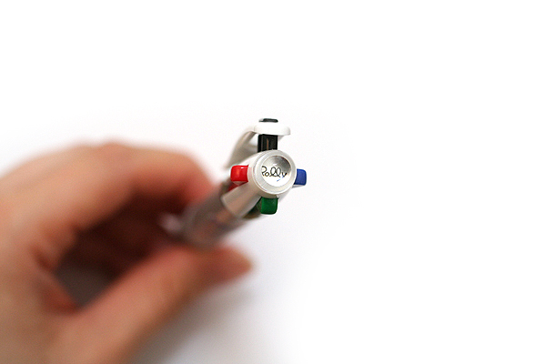 Pentel Rolly C4 4 Color Ballpoint Multi Pen - 0.7 mm - White Clip - PENTEL BPC47W