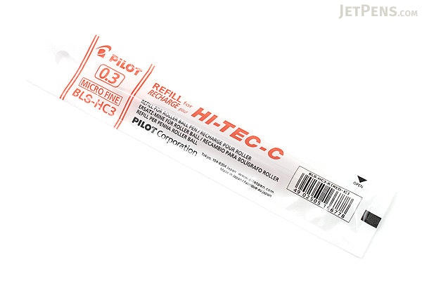 Pilot Hi-Tec-C Gel Pen Refill - 0.3 mm - Red - PILOT BLS-HC3-R