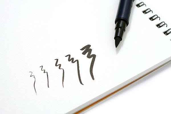 Uni Double-Sided Pocket Brush Pen - Fine & Medium - UNI PFK2051P