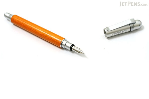A.G. Spalding & Bros BRFT220 Fountain Pen - Medium Nib - Maple Wood - Orange Body - RAYMAY BRFT220 D