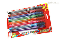 Pentel RSVP Razzle Dazzle Ballpoint Pen - 0.7 mm Medium Point - 8 Color Set - PENTEL BK91CRBP8M