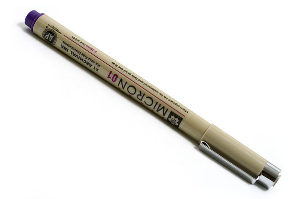 Sakura Pigma Micron Pen - Size 01 - 0.25 mm - Purple - SAKURA XSDK01-24