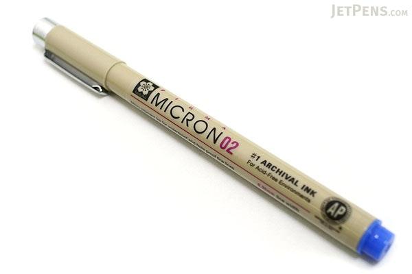 Sakura Pigma Micron Pen - Size 02 - 0.3 mm - Blue - SAKURA XSDK02-36