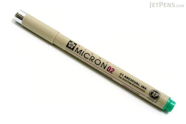 Sakura Pigma Micron Pen - Size 02 - 0.3 mm - Green - SAKURA XSDK02-29