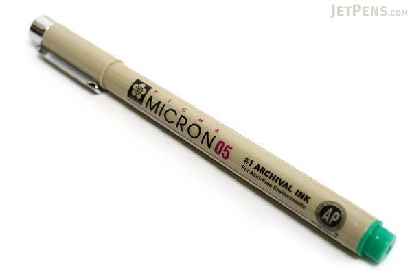Sakura Pigma Micron Pen - Size 05 - 0.45 mm - Green - SAKURA XSDK05-29