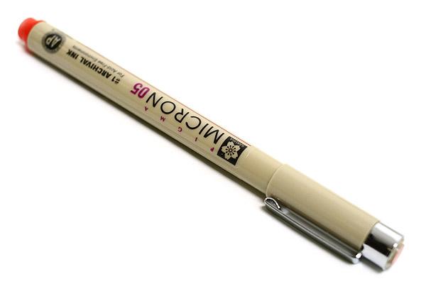 Sakura Pigma Micron Pen - Size 05 - 0.45 mm - Red - SAKURA XSDK05-19