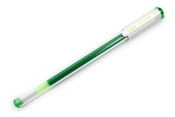 Pilot Choose Gel Ink Pen - 0.7 mm - Yellow Green - PILOT LCH-10F-YG