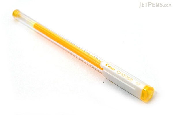 Pilot Choose Gel Ink Pen - 0.7 mm - Yellow - PILOT LCH-10F-Y