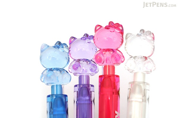 Uni Hello Kitty Crystal 2 Color Ballpoint Multi Pen - 0.7 mm - Blue Body - UNI SE2353KTSN 33