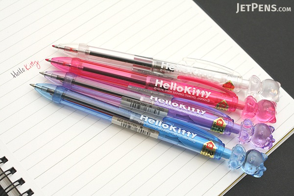 Uni Hello Kitty Crystal 2 Color Ballpoint Multi Pen - 0.7 mm - Purple Body - UNI SE2353KTSN 12