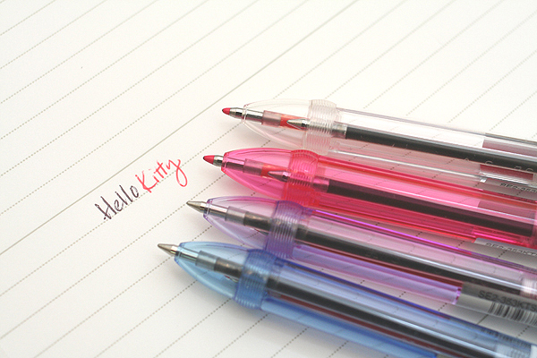 Uni Hello Kitty Crystal 2 Color Ballpoint Multi Pen - 0.7 mm - Blue Body - UNI SE2353KTSN 33