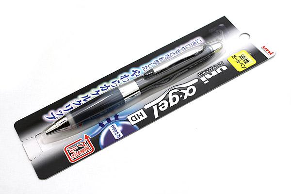 Uni Alpha Gel Shaka Ballpoint Pen - 0.7 mm - Black Body - Black Grip - UNI SD618GG1P.24