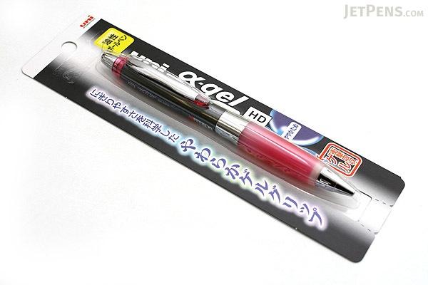Uni Alpha Gel Shaka Ballpoint Pen - 0.7 mm - Black Body - Rose Pink Grip - UNI SD618GG1P.66