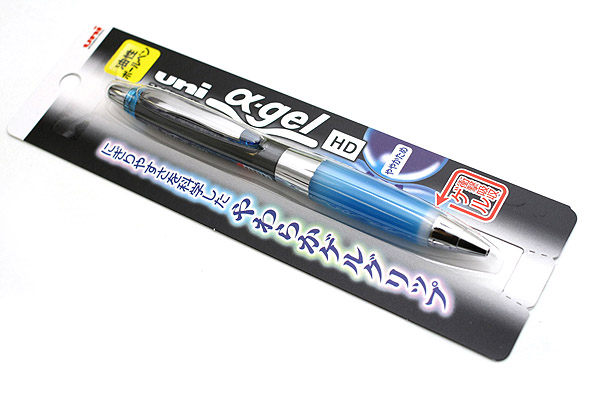 Uni Alpha Gel Shaka Ballpoint Pen - 0.7 mm - Black Body - Royal Blue Grip - UNI SD618GG1P.40
