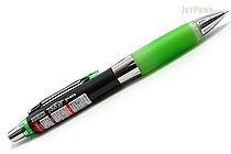 Uni Alpha Gel HD Shaka Shaker Pencil - 0.5 mm - Black Body - Lime Green Grip - UNI M5-618GG1P .5