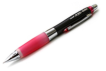 Uni Alpha Gel HD Shaka Shaker Mechanical Pencil - 0.5 mm - Black Body - Rose Pink Grip - UNI M5618GG1P .66