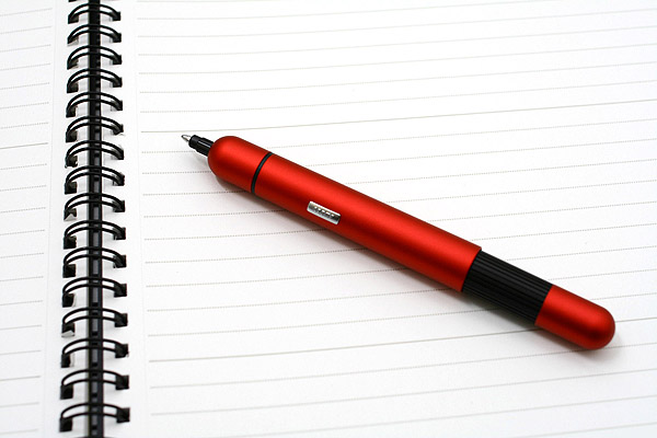 Lamy Pico Pocket Size Extendable Ballpoint Pen - 0.7 mm Medium Point - Red Body - LAMY L288RD