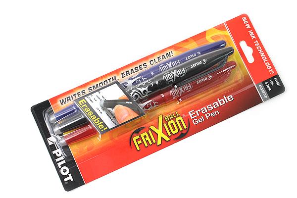 Pilot FriXion Ball US Erasable Gel Pen - 0.7 mm - 3 Pen Pack - PILOT FX7C3001