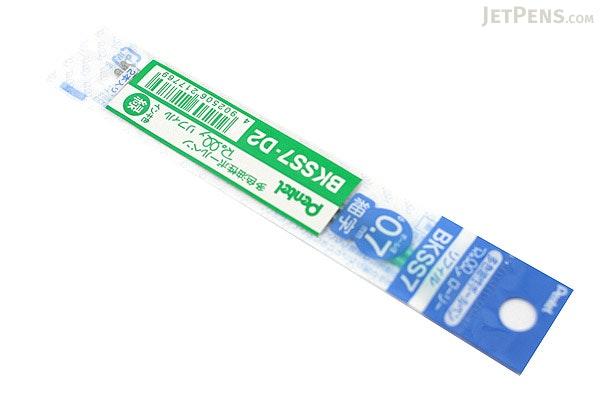 Pentel Rolly C4 Ballpoint Multi Pen Refill - 0.7 mm - Green - Pack of 2 - PENTEL BKSS7-D2