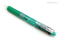Zebra Clip-On 4 Color 0.7 mm Ballpoint Multi Pen + 0.5 mm Pencil - Green Body - ZEBRA B4SA1-G