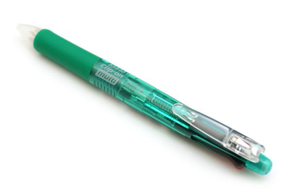 Zebra Clip-On 4 Color 0.7 mm Ballpoint Multi Pen + 0.5 mm Pencil - Green Body - ZEBRA B4SA1-G