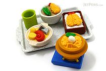 Iwako Japanese Tempura on Tray Novelty Eraser - 6 Piece Set - IWAKO ER-981035