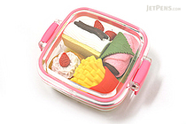 Iwako Box Set - American Food Box Novelty Eraser - Small Pink Box - 4 Piece Set - IWAKO ER-981066 P