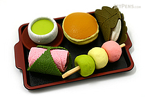 Iwako Japanese Traditional Snack on Tray Novelty Eraser - 5 Piece Set - IWAKO ER-BRI009