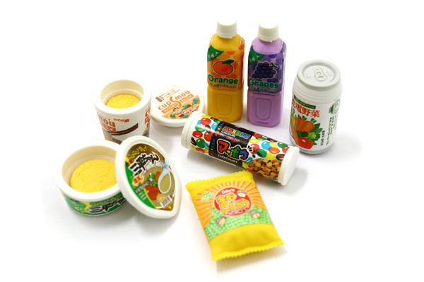 Iwako Japanese Snack Novelty Eraser - 7 Piece Set - IWAKO ER-BRI012