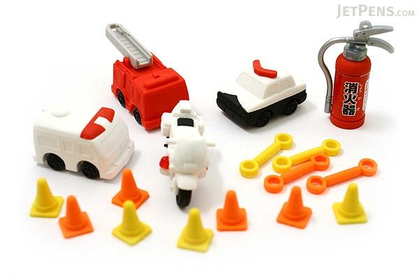 Iwako 911 Novelty Eraser - 18 Piece Set - IWAKO ER-BRI013