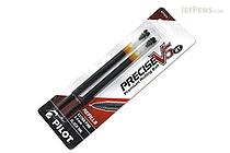 Pilot Precise V5 RT Rollerball Pen Refill - 0.5 mm - Black - Pack of 2 - PILOT PV5RRBLK
