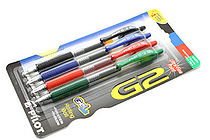 Pilot G-2 Gel Pen - 0.38 mm - 4 Color Pack - PILOT 31276