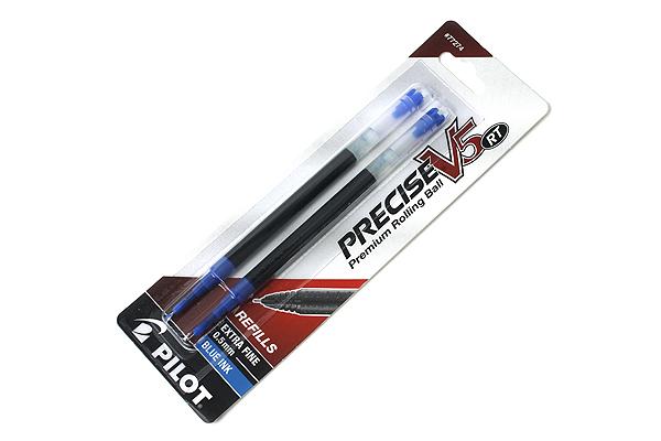 Pilot Precise V5 RT Rollerball Pen Refill - 0.5 mm - Blue - Pack of 2 - PILOT 77274