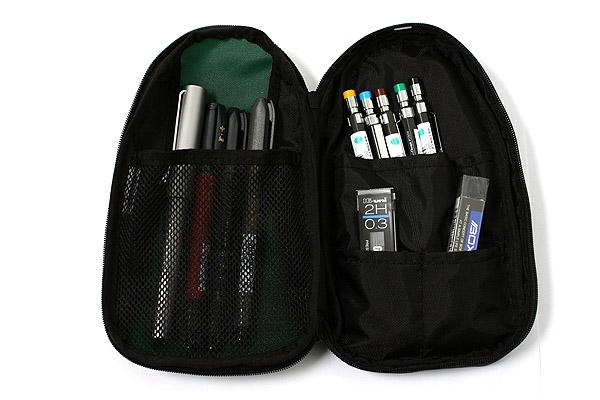 Kokuyo Huger Mega Pencil Case - Dark Green - KOKUYO F-VBF119-2