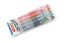 Pilot e-Gel Erasable Gel Ink Pen - 0.7 mm - 5 Color Set - PILOT LH-60E7-5C