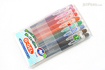 Pilot e-Gel Erasable Gel Ink Pen - 0.7 mm - 8 Color Set - PILOT LH-96E7-8C