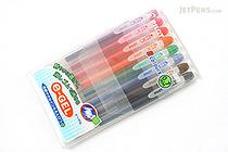 Pilot e-Gel Erasable Gel Ink Pen - 0.7 mm - 8 Color Set - PILOT LH-96E7-8C