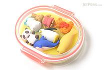 Iwako Box Set - Animal Friends Eraser - Large Pink Box - Assorted 7 Piece Set - IWAKO ER-PUC003 P