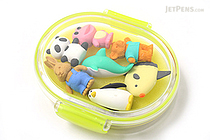 Iwako Box Set - Animal Friends Eraser - Large Yellow Box - Assorted 7 Piece Set - IWAKO ER-PUC003 Y