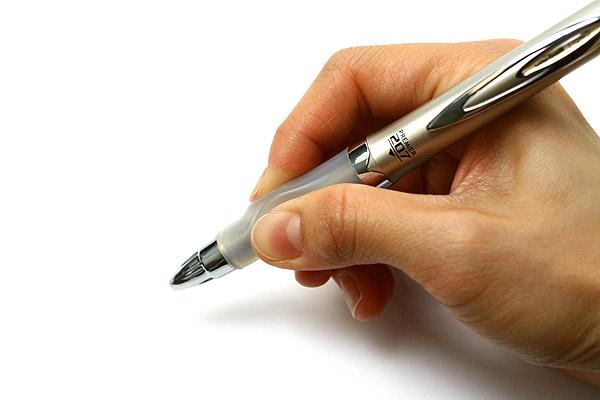 Uni-ball Signo Premier 207 Retractable Gel Ink Pen - 0.5 mm - Gold Body - Blue Ink - UNI UMN-207 GG GOLD